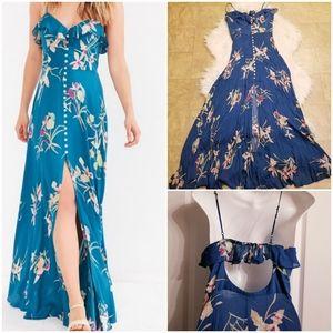 UO|Kimchi Blue Button Down Maxi Dress